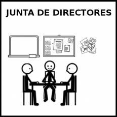 JUNTA DE DIRECTORES - Pictograma (blanco y negro)