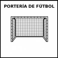 PORTERÍA DE FÚTBOL - Pictograma (blanco y negro)