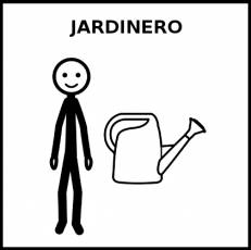 JARDINERO - Pictograma (blanco y negro)