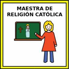 MAESTRA DE RELIGIÓN CATÓLICA - Pictograma (color)