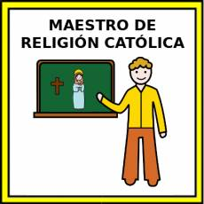 MAESTRO DE RELIGIÓN CATÓLICA - Pictograma (color)