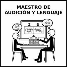 MAESTRO DE AUDICIÓN Y LENGUAJE - Pictograma (blanco y negro)