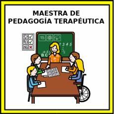 MAESTRA DE PEDAGOGÍA TERAPÉUTICA - Pictograma (color)