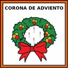 CORONA DE ADVIENTO - Pictograma (color)