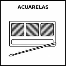 ACUARELAS - Pictograma (blanco y negro)