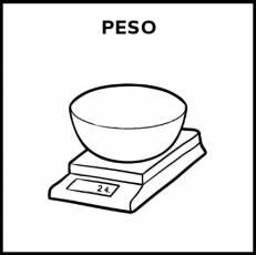 PESO - Pictograma (blanco y negro)