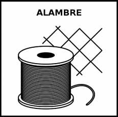 ALAMBRE - Pictograma (blanco y negro)