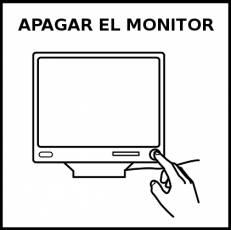 APAGAR EL MONITOR - Pictograma (blanco y negro)