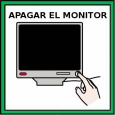 APAGAR EL MONITOR - Pictograma (color)