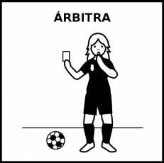 ÁRBITRA - Pictograma (blanco y negro)
