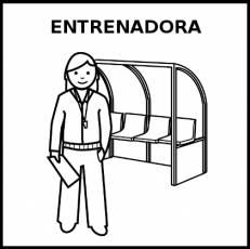 ENTRENADORA - Pictograma (blanco y negro)