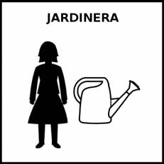 JARDINERA (PROFESIÓN) - Pictograma (blanco y negro)