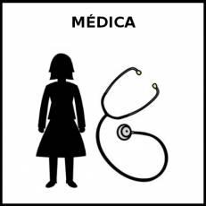 MÉDICA - Pictograma (blanco y negro)
