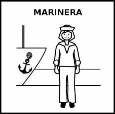 MARINERA - Pictograma (blanco y negro)
