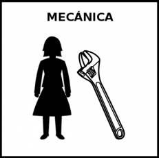 MECÁNICA - Pictograma (blanco y negro)