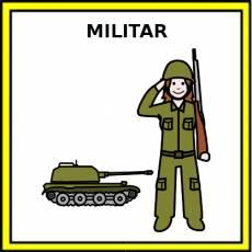 MILITAR (MUJER) - Pictograma (color)