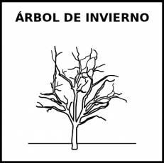 ÁRBOL DE INVIERNO - Pictograma (blanco y negro)