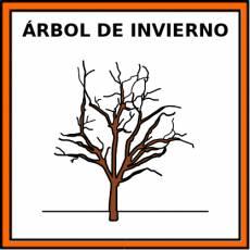 ÁRBOL DE INVIERNO - Pictograma (color)