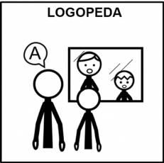 LOGOPEDA (HOMBRE) - Pictograma (blanco y negro)