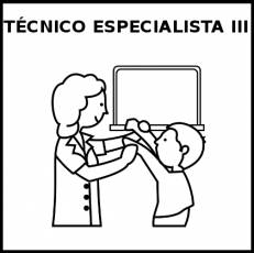 TÉCNICO ESPECIALISTA III (MUJER) - Pictograma (blanco y negro)
