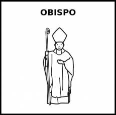 OBISPO - Pictograma (blanco y negro)