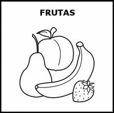 FRUTAS - Pictograma (blanco y negro)