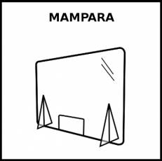 MAMPARA - Pictograma (blanco y negro)