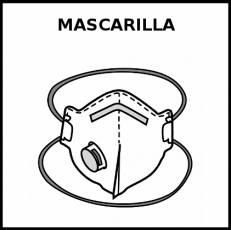 MASCARILLA (FFP2 CON VÁLVULA) - Pictograma (blanco y negro)