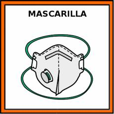 MASCARILLA (FFP2 CON VÁLVULA) - Pictograma (color)