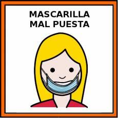 MASCARILLA MAL PUESTA - Pictograma (color)