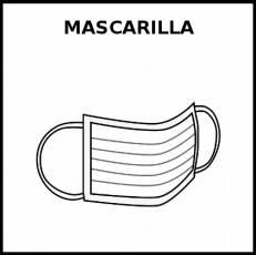 MASCARILLA (QUIRÚRGICA) - Pictograma (blanco y negro)
