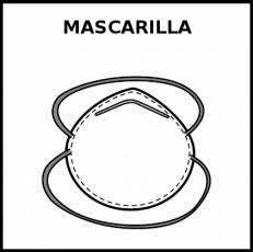 MASCARILLA (REUTILIZABLE) - Pictograma (blanco y negro)