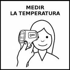 MEDIR LA TEMPERATURA - Pictograma (blanco y negro)