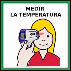 MEDIR LA TEMPERATURA - Pictograma (color)