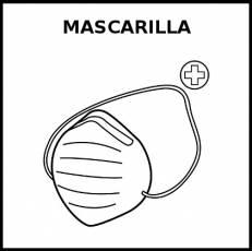 MASCARILLA - Pictograma (blanco y negro)