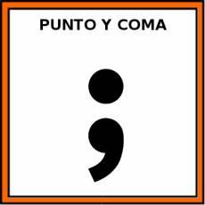 PUNTO Y COMA - Pictograma (color)