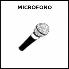 MICRÓFONO - Pictograma (blanco y negro)