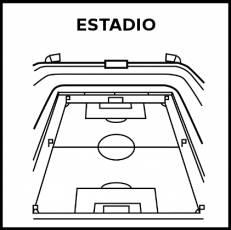 ESTADIO - Pictograma (blanco y negro)