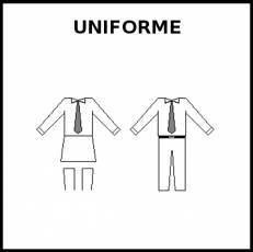 UNIFORME - Pictograma (blanco y negro)