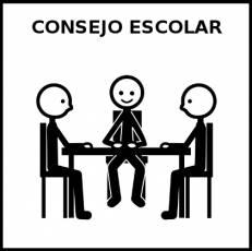 CONSEJO ESCOLAR - Pictograma (blanco y negro)