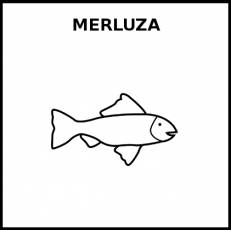 MERLUZA (ANIMAL) - Pictograma (blanco y negro)