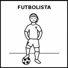 FUTBOLISTA (MUJER) - Pictograma (blanco y negro)