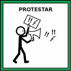 PROTESTAR - Pictograma (color)
