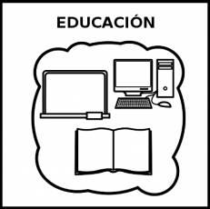 EDUCACIÓN - Pictograma (blanco y negro)