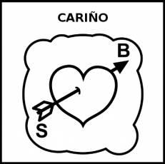 CARIÑO - Pictograma (blanco y negro)