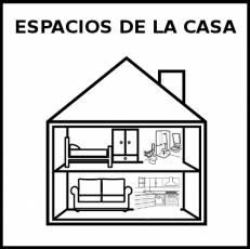 ESPACIOS DE LA CASA - Pictograma (blanco y negro)