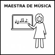MAESTRA DE MÚSICA - Pictograma (blanco y negro)