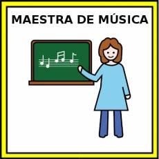 MAESTRA DE MÚSICA - Pictograma (color)