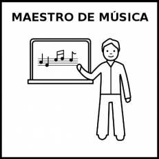 MAESTRO DE MÚSICA - Pictograma (blanco y negro)
