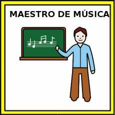MAESTRO DE MÚSICA - Pictograma (color)